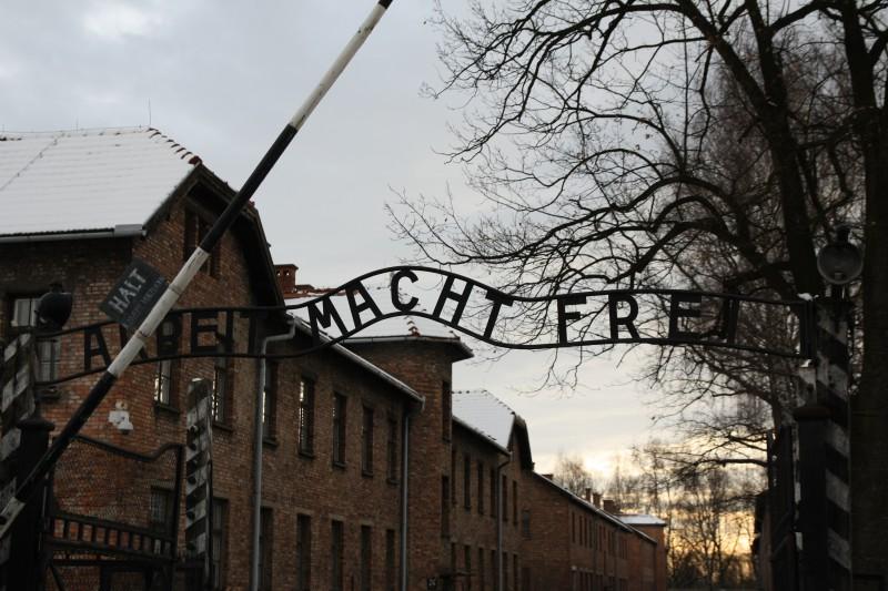 Der Eingang zum Stammlager Auschwitz I.
