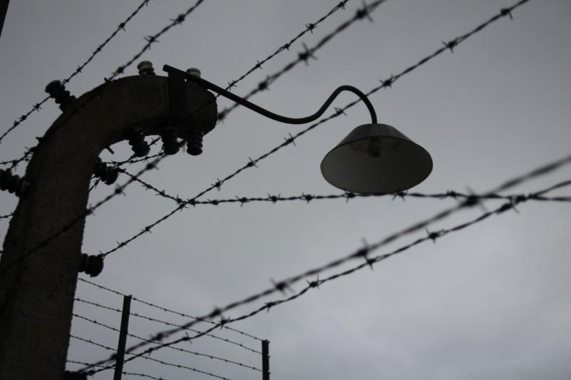 Der Zaun war elektrisch geladen. Hier eine Aufnahme aus Auschwitz-Birkenau.